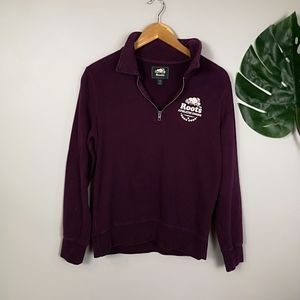 Roots maroon crew neck